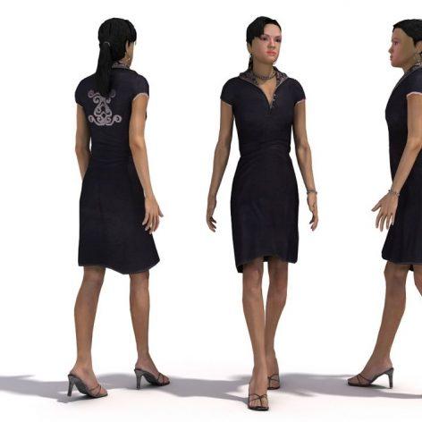 مدل سه بعدی زن