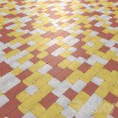 مدل سه بعدی سنگ فرش