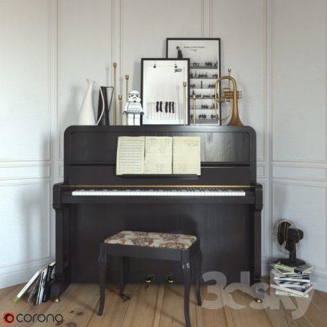آبجکت آماده پیانو