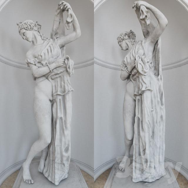 آبجکت آماده مجسمه زن 1