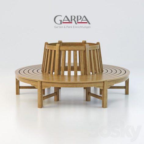مدل سه بعدی صندلی پارک