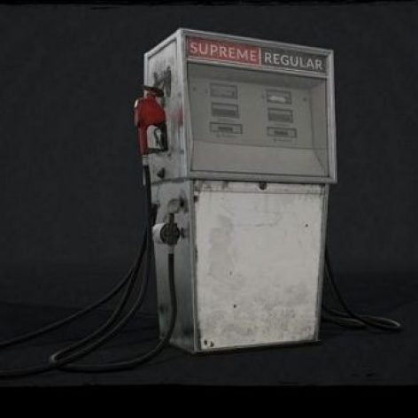 آبجکت پمپ بنزین در تردی مکس