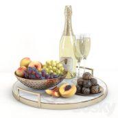 آبجکت میوه و شامپاین