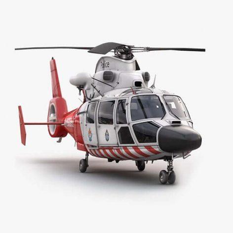 آبجکت هلیکوپتر آمبولانس