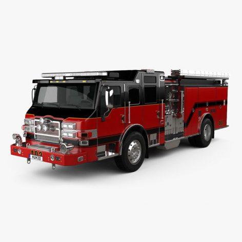 آبجکت ماشین آتش نشانی