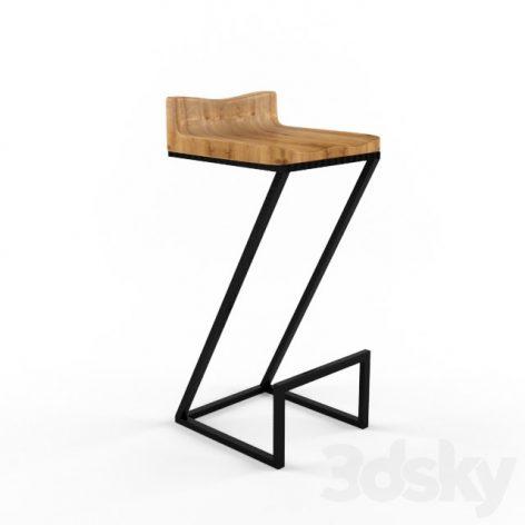 آبجکت صندلی بار پایه فلزی