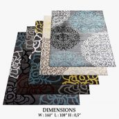 مدل سه بعدی فرش مدرن