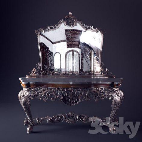 آبجکت آینه کنسول کلاسیک