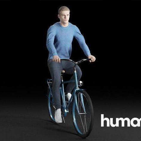 آبجکت کاراکتر دوچرخه سوار در تردی مکس