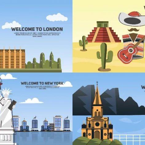 کیت تبلیغاتی سفر و تعطیلات