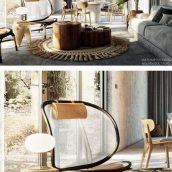 مدل سه بعدی اتاق نشیمن