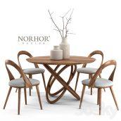 مدل سه بعدی ست میز و صندلی