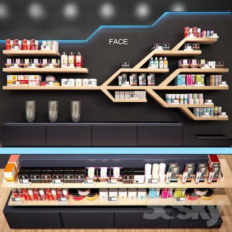 مدل سه بعدی دکور مغازه