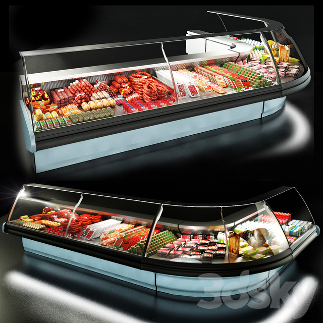 مدل سه بعدی یخچال ویترین