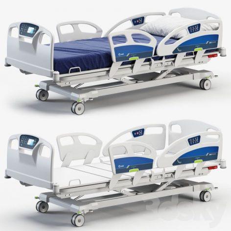 مدل سه بعدی تخت بیمارستان