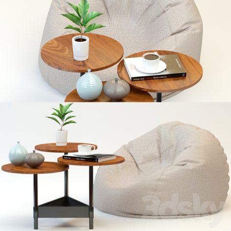 مدل سه بعدی میز قهوه 1