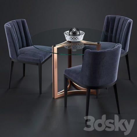 آبجکت میز شیشه ای