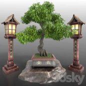 مدل سه بعدی درخت ژاپنی