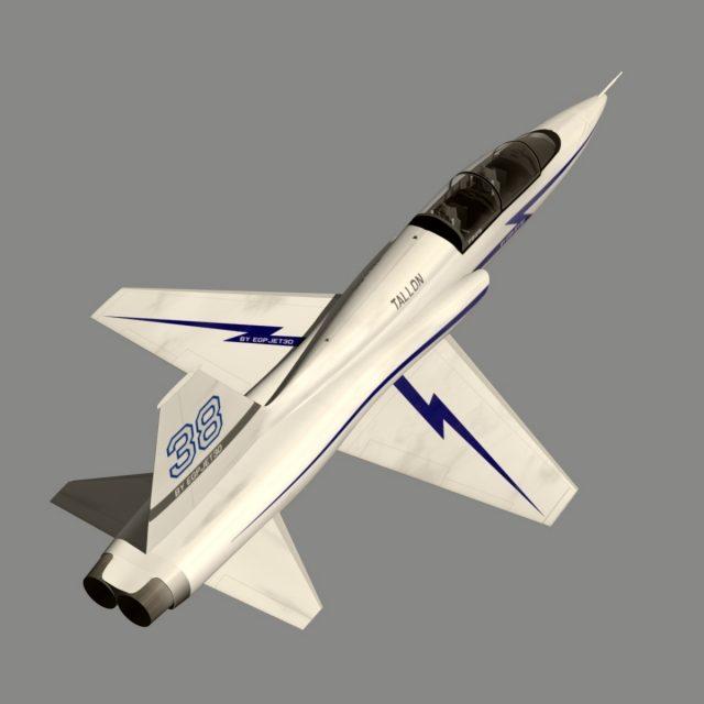 مدل سه بعدی هواپیمای جت