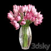 مدل سه بعدی گلدان رز قرمز