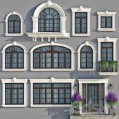 مدل سه بعدی در و پنجره کلاسیک