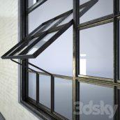 مدل سه بعدی پنجره گلخانه ای