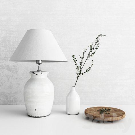 مدل سه بعدی لامپ و گلدان نپتون