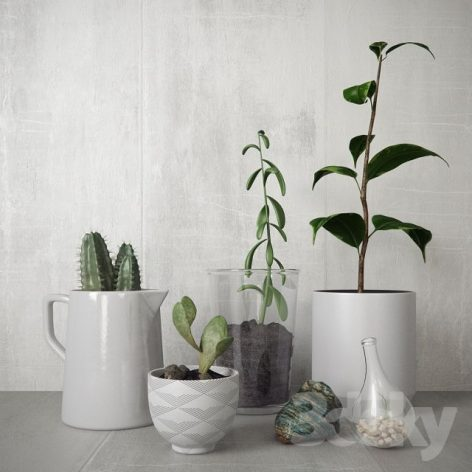 مدل سه بعدی گلدان دکوری
