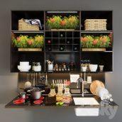 مدل سه بعدی ست آشپزخانه 3