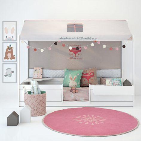مدل سه بعدی ست اتاق کودک