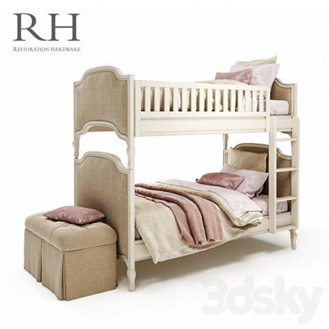 مدل سه بعدی تخت دو خوابه
