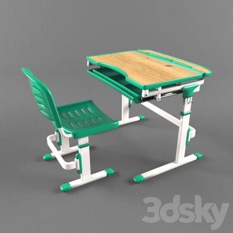 مدل سه بعدی میزتحریر مدرسه