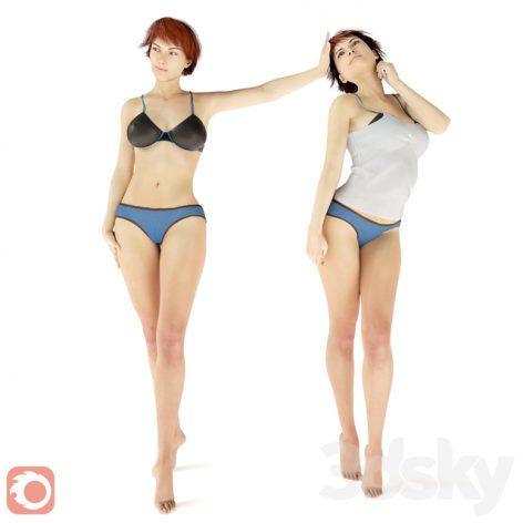 مدل سه بعدی انسان 2