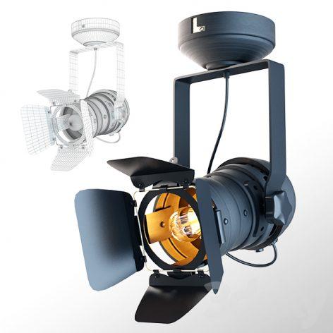 مدل سه بعدی چراغ استودیو