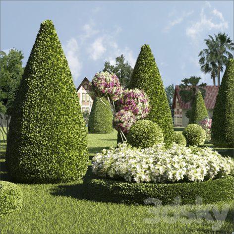 مدل سه بعدی فضای سبز