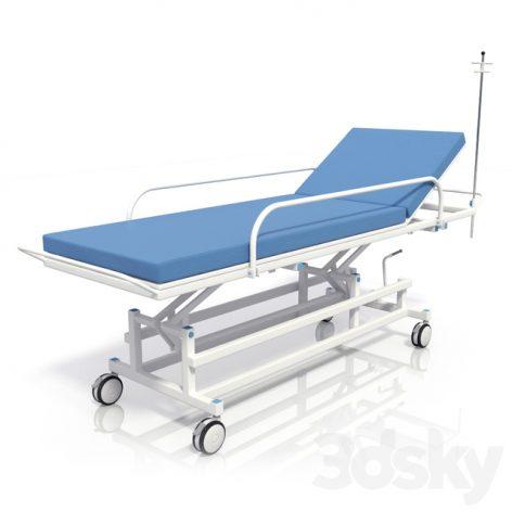 مدل سه بعدی تخت بیمارستان 1