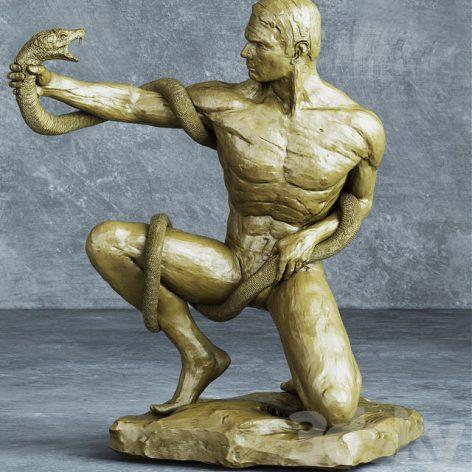 مدل سه بعدی مجسمه مرد