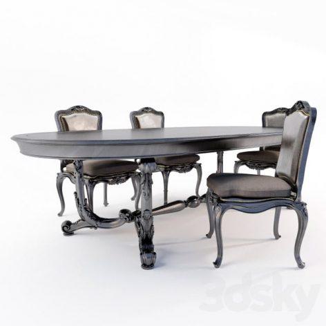 آبجکت میز غذاخوری کلاسیک