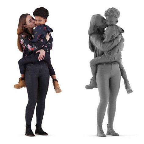 مدل سه بعدی انسان 01