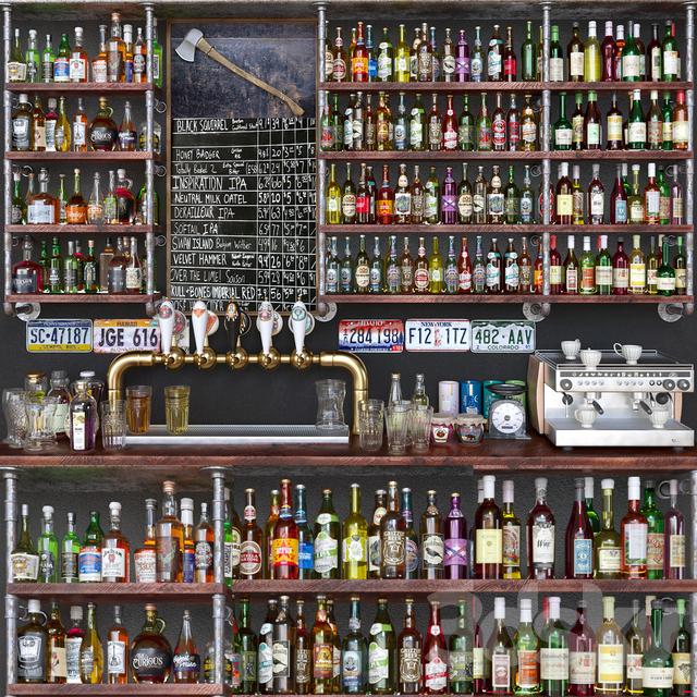 مدل سه بعدی مشروبالت الکلی