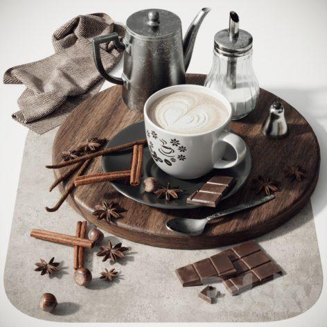 مدل سه بعدی قهوه