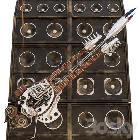 مدل سه بعدی گیتار 2