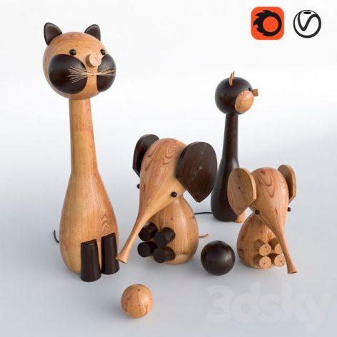 مدل سه بعدی اسباب بازی سری اول