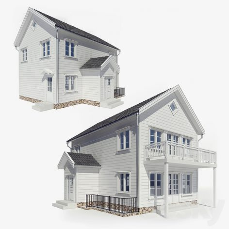 مدل سه بعدی مسکونی