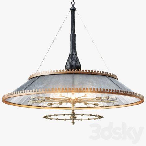 مدل سه بعدی چراغ ۹ در تری دی مکس و وی ری (۳d max & V.ray)