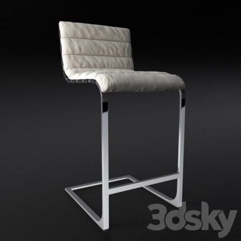 مدل سه بعدی صندلی بار سری اول