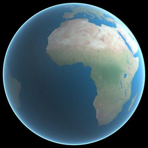 مدل سه بعدی کره زمین در مایا