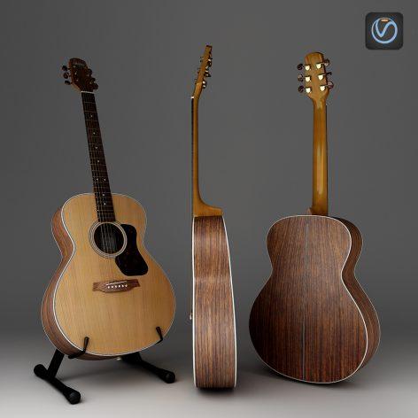مدل سه بعدی گیتار