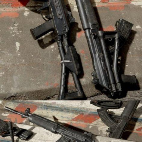 مدل سه بعدی اسلحه کلاشینکف