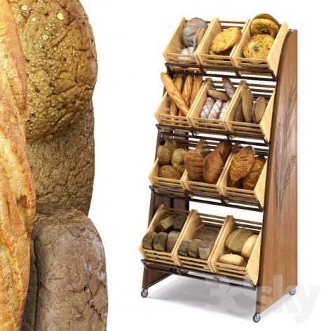 مدل سه بعدی نان